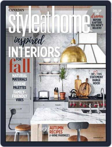 Style At Home Canada (Digital) October 1st, 2018 Issue Cover