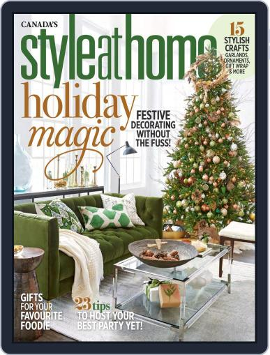 Style At Home Canada (Digital) December 1st, 2018 Issue Cover