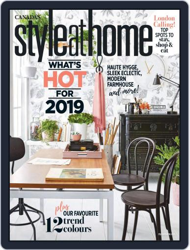 Style At Home Canada (Digital) January 1st, 2019 Issue Cover