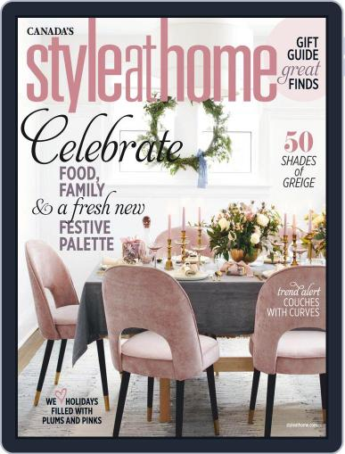 Style At Home Canada (Digital) November 1st, 2019 Issue Cover