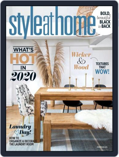 Style At Home Canada (Digital) January 1st, 2020 Issue Cover