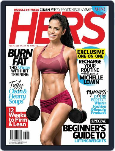 Muscle & Fitness Hers South Africa July 1st, 2018 Digital Back Issue Cover