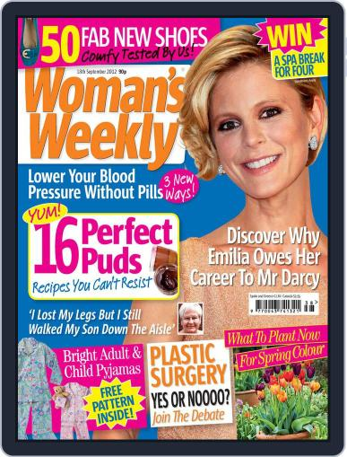 Woman's Weekly September 11th, 2012 Digital Back Issue Cover