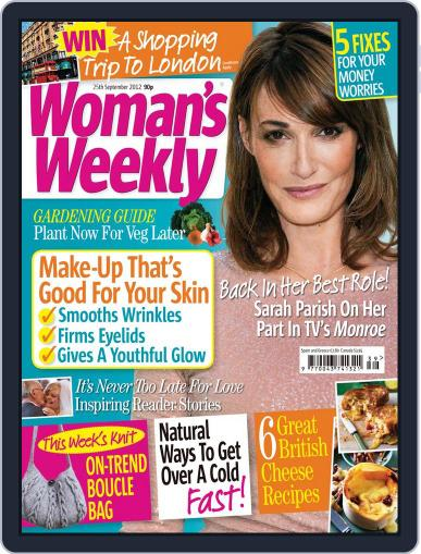 Woman's Weekly September 19th, 2012 Digital Back Issue Cover