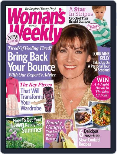 Woman's Weekly March 11th, 2014 Digital Back Issue Cover