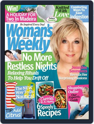 Woman's Weekly April 15th, 2014 Digital Back Issue Cover