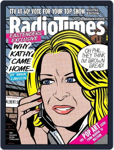 Radio Times August 18th, 2015 Digital Back Issue Cover