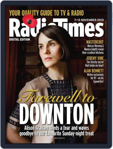 Radio Times November 3rd, 2015 Digital Back Issue Cover