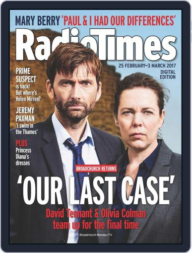 Radio Times February 25th, 2017 Digital Back Issue Cover