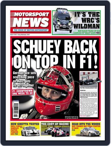 Motorsport News March 18th, 2011 Digital Back Issue Cover
