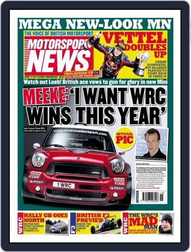 Motorsport News April 12th, 2011 Digital Back Issue Cover