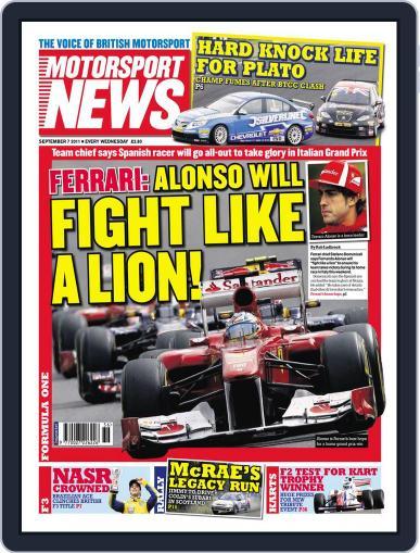 Motorsport News September 6th, 2011 Digital Back Issue Cover