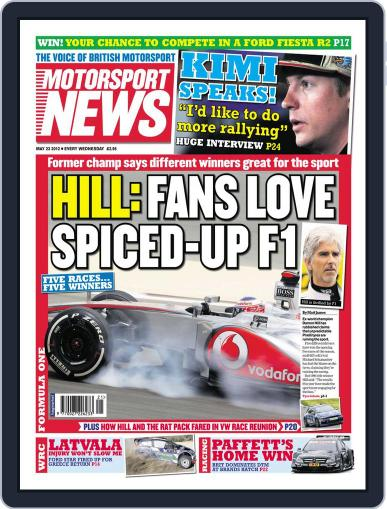 Motorsport News May 23rd, 2012 Digital Back Issue Cover