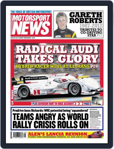Motorsport News (Digital) June 20th, 2012 Issue Cover