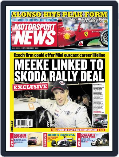 Motorsport News (Digital) July 24th, 2012 Issue Cover