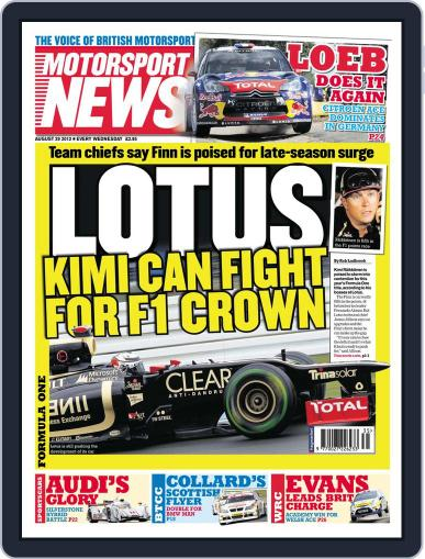 Motorsport News (Digital) August 29th, 2012 Issue Cover