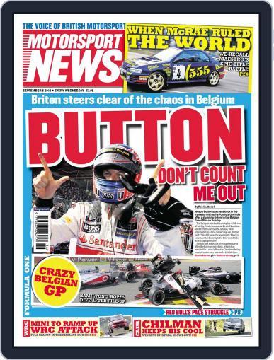 Motorsport News (Digital) September 4th, 2012 Issue Cover