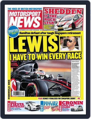 Motorsport News (Digital) September 26th, 2012 Issue Cover