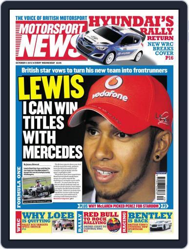 Motorsport News (Digital) October 3rd, 2012 Issue Cover