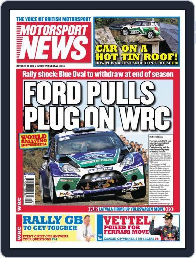 Motorsport News (Digital) October 17th, 2012 Issue Cover