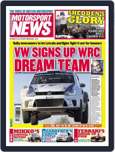 Motorsport News (Digital) October 23rd, 2012 Issue Cover