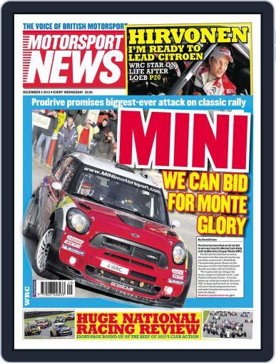 Motorsport News December 5th, 2012 Digital Back Issue Cover