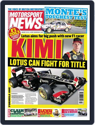Motorsport News (Digital) January 30th, 2013 Issue Cover