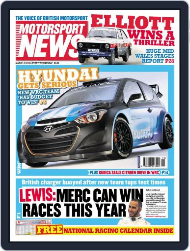 Motorsport News (Digital) March 6th, 2013 Issue Cover