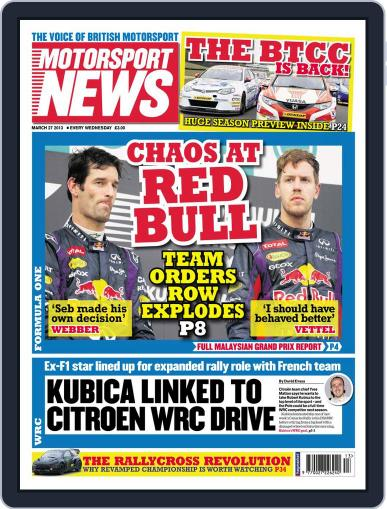Motorsport News (Digital) March 28th, 2013 Issue Cover