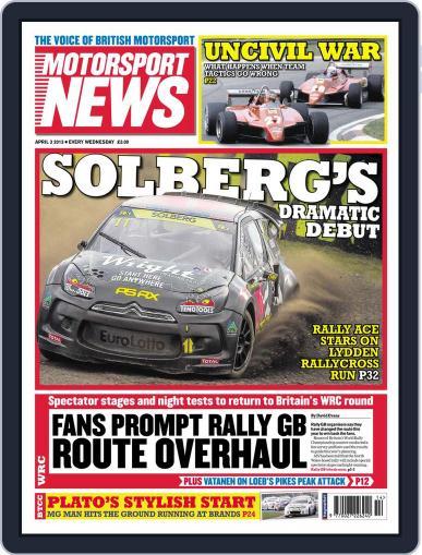 Motorsport News April 3rd, 2013 Digital Back Issue Cover