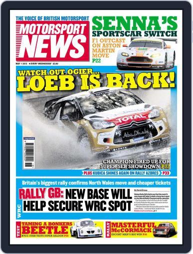Motorsport News April 30th, 2013 Digital Back Issue Cover