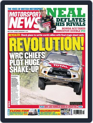 Motorsport News May 8th, 2013 Digital Back Issue Cover
