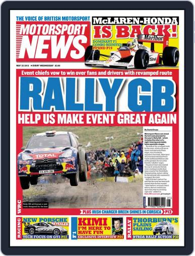 Motorsport News May 22nd, 2013 Digital Back Issue Cover