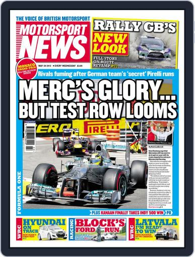 Motorsport News May 28th, 2013 Digital Back Issue Cover