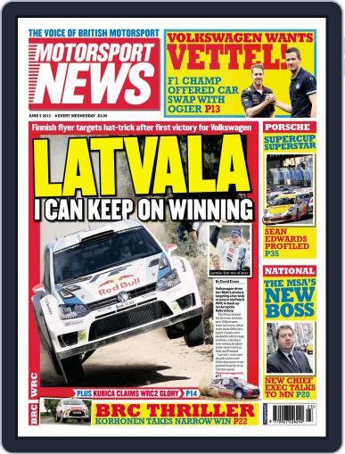 Motorsport News June 5th, 2013 Digital Back Issue Cover