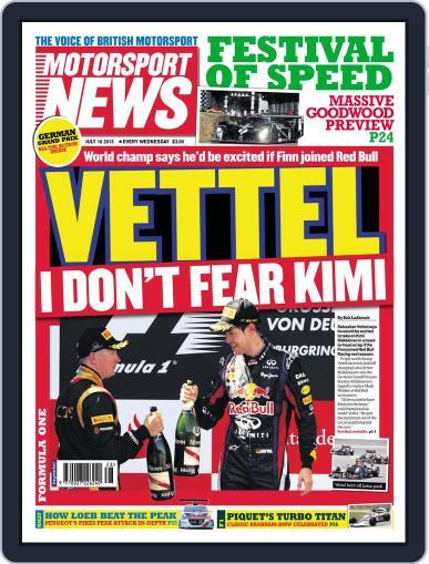 Motorsport News July 9th, 2013 Digital Back Issue Cover