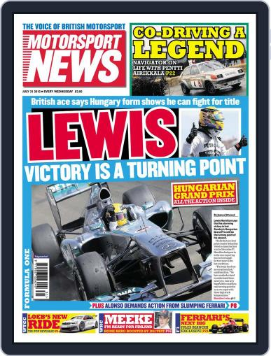Motorsport News (Digital) July 30th, 2013 Issue Cover
