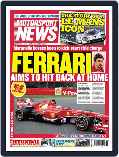 Motorsport News September 3rd, 2013 Digital Back Issue Cover