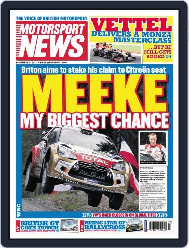 Motorsport News (Digital) September 10th, 2013 Issue Cover