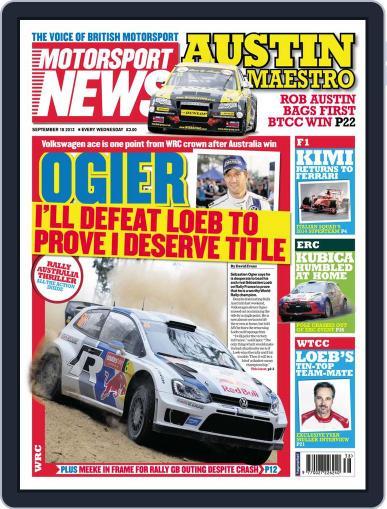 Motorsport News September 17th, 2013 Digital Back Issue Cover