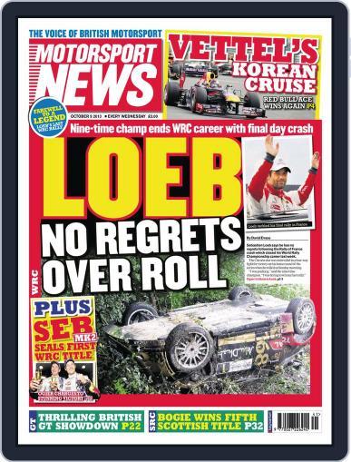 Motorsport News (Digital) October 1st, 2013 Issue Cover
