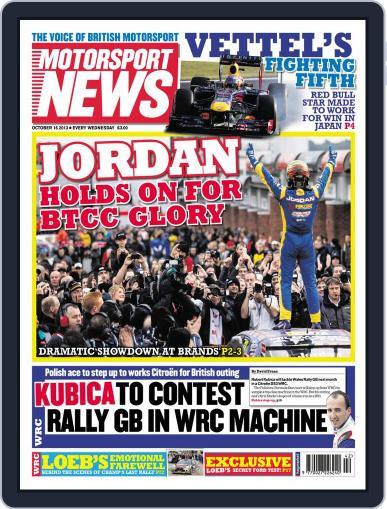 Motorsport News (Digital) October 16th, 2013 Issue Cover