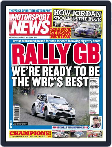 Motorsport News (Digital) October 22nd, 2013 Issue Cover
