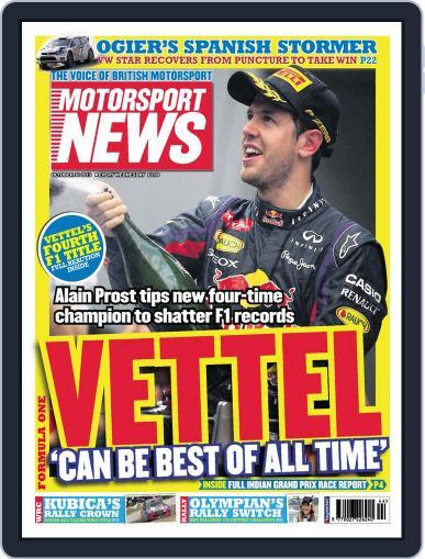 Motorsport News (Digital) October 29th, 2013 Issue Cover