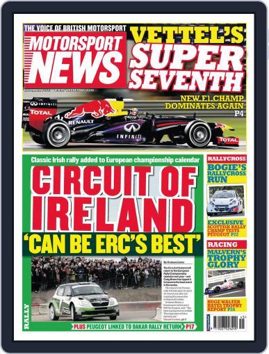 Motorsport News (Digital) November 5th, 2013 Issue Cover