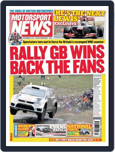 Motorsport News (Digital) November 19th, 2013 Issue Cover