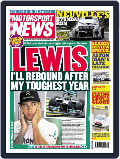 Motorsport News (Digital) November 26th, 2013 Issue Cover
