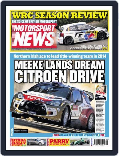 Motorsport News December 10th, 2013 Digital Back Issue Cover