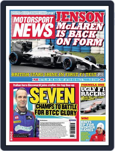 Motorsport News (Digital) February 4th, 2014 Issue Cover