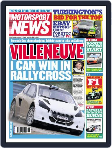 Motorsport News (Digital) February 18th, 2014 Issue Cover
